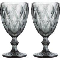 Gemstone Set of 2 Wine Glasses.