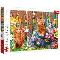 500-Piece Kittens in the Garden Puzzle.