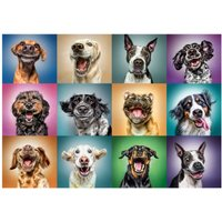 1000-Piece Funny Dog Portraits Puzzle.
