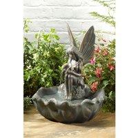 Solar Fairy Leaf Fountain