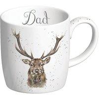 Royal Worcester Wrendale Dad Stag Design Large Mug.