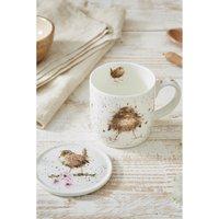 Royal Worcester Wrendale Flying the Nest Mug and Coaster Set.