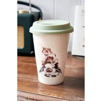 Royal Worcester Wrendale Rabbit, Guinea Pig and Mouse Design Travel Mug.
