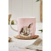 Royal Worcester Wrendale Bath Time Rabbit Design Large Mug.