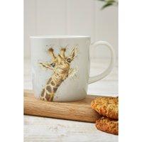 Royal Worcester Wrendale Flowers Giraffe Design Large Mug.