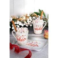 Royal Worcester Wrendale Flamingle Bells Mug and Tray Set.