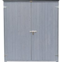 Charles Bentley FSC Garden Chest Storage Shed Grey
