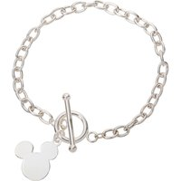 Disney Mickey Mouse Sterling Silver Toggle Bracelet.