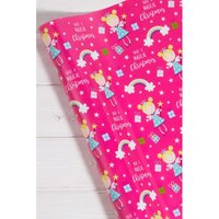 24m Pink Fairy Wrapping Paper.