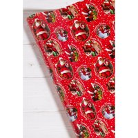 10m Traditional Santa Wrapping Paper.
