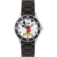 Disney Mickey Mouse Black Silicone Strap Watch.