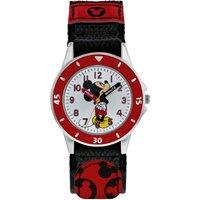 Disney Mickey Mouse PU Webbing Strap Watch.