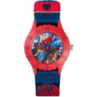 Disney Spiderman Blue Canvas Strap Watch