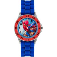 Disney Spiderman Time Teachers Blue Silicone Strap Watch