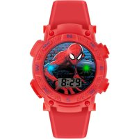 Spiderman Kids Red Silicone Strap Watch