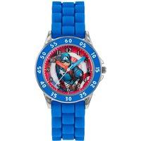 Disney Avengers Captain America Time Teachers Blue Silicone Strap Watch
