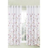 Wild Flowers Lined Eyelet Curtains