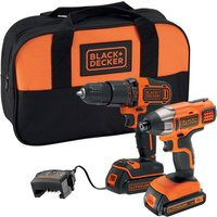 Black and Decker 18v Cordless Combi Drill and Impact Driver.