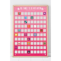 100 Things To Do with Mum Scratch Off Poster