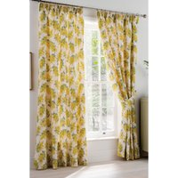 Cath Kidston Mimosa Flower Lined Pencil Pleat Curtains