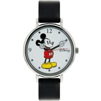 Disney Ladies Mickey Mouse Black Leather Strap Watch at Studio Catalogue