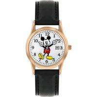 Disney Ladies Mickey Mouse Black PU Strap Watch.