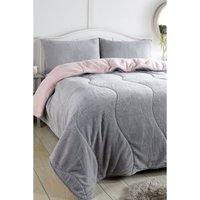 Ultra Cosy Teddy Coverless Two Tone 4.5 Tog Duvet