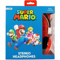 Super Mario Icon Red/Black Teen Stereo Headphones.