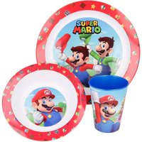 Stor 3-Piece Super Mario Micro and Placemat Set.