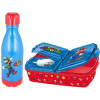 Stor Super Mario Sandwich Box and Daily Pop Bottle Twin Set.