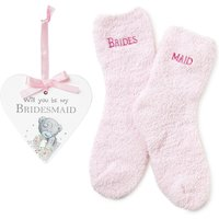 Me to You Bridesmaid Plaque and Sock Set.