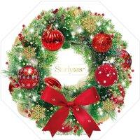 Christmas Bauble Wreath Candle Advent Calendar