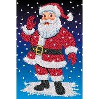 Sequin Art Santa.