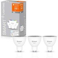 Pack of 3 Ledvance Smart Plus Wi-Fi Glass Spot Light 50W GU10 Bulbs.