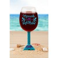 Mermaid Tail Wine Glass.