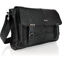 Woodland Leather Landscape 15 Inch Messenger Bag