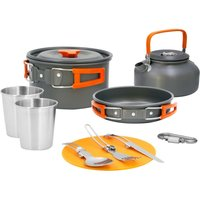 11-Piece Aluminium Camping Cookware Kit.
