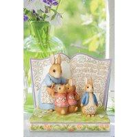 Beatrix Potter by Jim Shore Peter Rabbit Four Little Rabbits Story Book