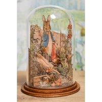 Beatrix Potter Peter Rabbit Handkerchief Wooden Figurine