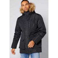 Faux Fur Hooded Parka Jacket
