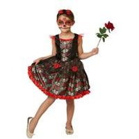 Rubies Kids Red Rose Day of the Dead Halloween Costume.