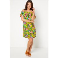 Bardot Tropical Floral Frill Short Dress