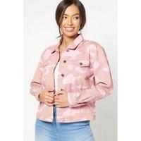 Pink Camouflage Denim Jacket