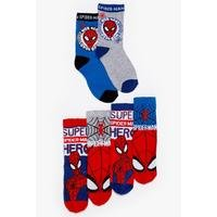 Boys Pack of 6 Spiderman Socks