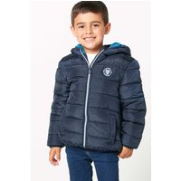 Younger Boys School Fleece Lined Padded Navy Jacket.