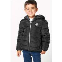 Boys Fleece Lined Padded Black School Jacket.