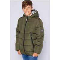 Older Boys Fleece Lined Khaki Padded Jacket