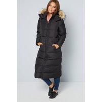 Black Maxi Padded Coat