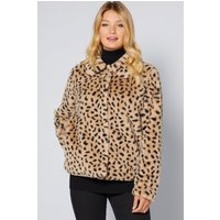Short Faux Fur Leopard Jacket