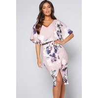 Quiz Floral Batwing Dress